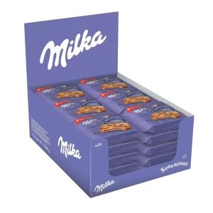 Biscotti Cookie Sensations Milka in busta da 52 g - conf. 24