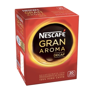 CAFFÈ ISTANTANEO NESCAFÈ GRAN AROMA DECAFFEINATO STICK DA 1,7G CONF. 20