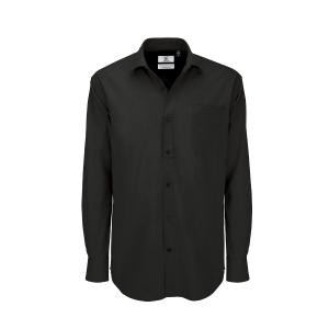Camicia manica lunga B&C in cotone nero tg 4XL