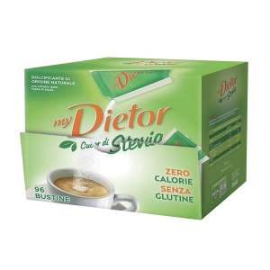 Dolcificante Stevia Dietor in bustine - conf. 96