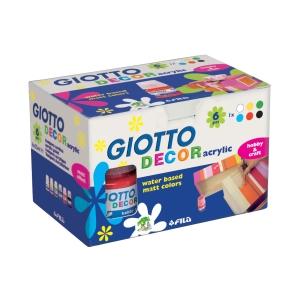 Tempera a base d acqua Giotto in barattolo 25 ml colori assortiti - conf. 6