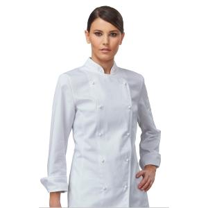 Giacca chef donna Siggi Top Amabel cotone sanforizzato bianco tg S