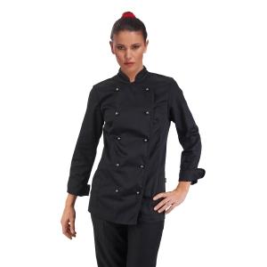 Giacca chef donna Siggi Top Amabel cotone sanforizzato nero tg xs