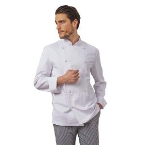 Giacca chef Siggi con bottoni bianco tg 3XL