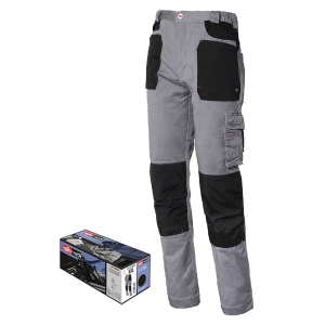 Pantaloni Issa Line Stretch 8730B grigio/nero tg XS