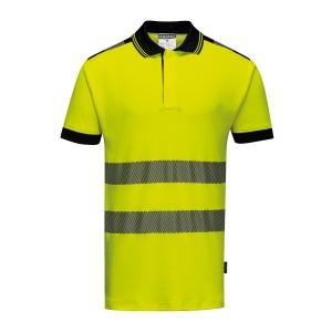Polo alta visibilità Portwest T180 giallo/nero tg XXL