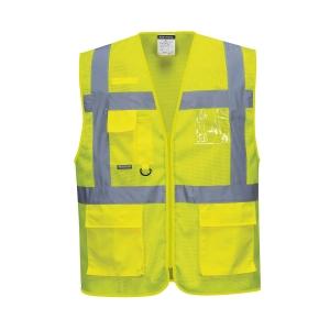 Gilet multitasche alta visibilità Portwest C376 giallo tg S