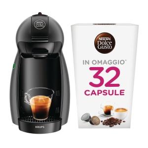 KIT MACCHINA CAFFÈ PICCOLO NESCAFÈ DOLCE GUSTO + 32 CAPSULE OMAGGIO