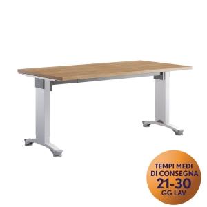 Scrivania Meco Office linea Wood L 160 x P 80 x H 80 cm rovere / bianco