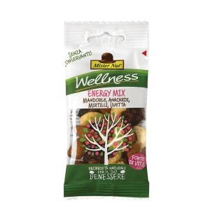 Snack frutta secca e disidratata Energy Mix Mister Nut in busta 25 g - conf. 24