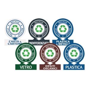 Etichette adesive identificative per rifiuti Avery assortite conf. 6