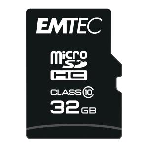 Scheda di memoria micro SDHC Emtec classe 10 con adattore 32 GB