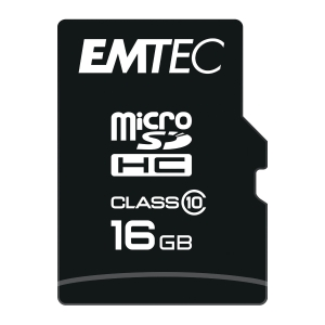 Scheda di memoria micro SDHC Emtec Card Classic classe 10 con adattore 16 GB