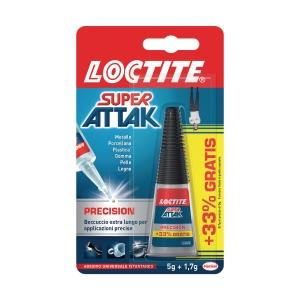 Colla istantanea liqui Loctite Super Attak flacone 5 g + 33% gratis