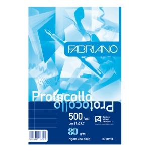 RISMA 500 FOGLI CARTA USO BOLLO FABRIANO FORMATO A4 80 G/MQ