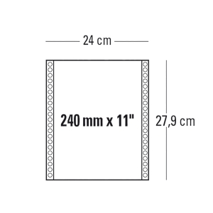 CONF. 1000 MODULI CONTINUI 240MM x 11   2 COPIE BIANCO 55 G/MQ BANDE STACCABILI