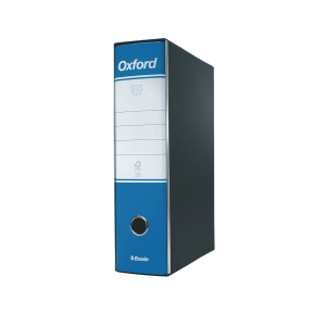 REGISTRATORE CON CUSTODIA OXFORD IN CARTONE 23x33 CM DORSO 8 CM BLU