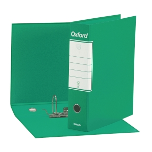 REGISTRATORE CON CUSTODIA OXFORD IN CARTONE 23x30 CM DORSO 8 CM VERDE