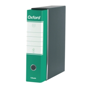 REGISTRATORE CON CUSTODIA OXFORD IN CARTONE 23x33 CM DORSO 8 CM VERDE