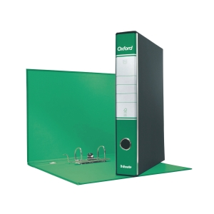 REGISTRATORE CON CUSTODIA OXFORD IN CARTONE 23x33 CM DORSO 5 CM VERDE