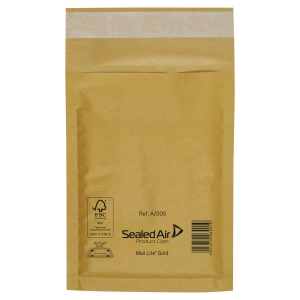 Busta spedizione Mail Lite®, 180x260 mm, Avana, confezione da 10 pezzi