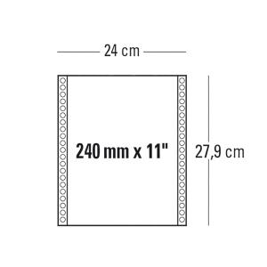 CONF. 2000 MODULI CONTINUI 240MM x 11   1 COPIA BIANCO 70 G/MQ BANDE STACCABILI