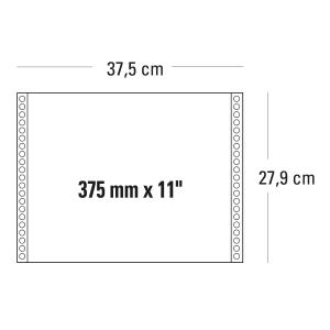 CONF. 2000 MODULI CONTINUI 375MM x11   1 COPIA GRIGIO 60 G/MQ - BANDE STACCABILI