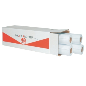 CONF. 4 ROTOLI CARTA PLOTTER OPACA JP ONE AS MARRI 80 G/MQ - 91,4 CM x 50 CM