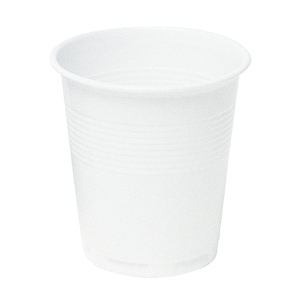 Bicchieri in plastica Duni 12 cl bianchi - conf. 80