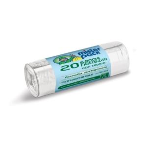 Sacchi spazzatura Mistersack 110 L trasparente - rotolo 20