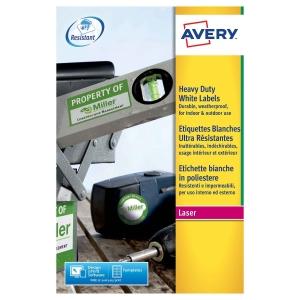 Etichette in poliestere Avery L4778 45,7x21,2 mm bianco conf. 960