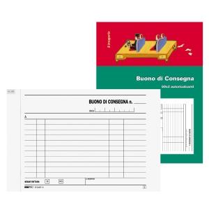 BLOCCO BUONO DI CONSEGNA 50X2 FOGLI CARTA AUTORICALCANTE F.TO 17,5 X 12 CM