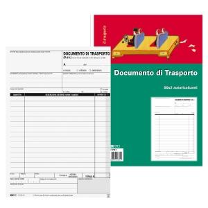BLOCCO DOCUMENTO DI TRASPORTO EDIPRO 50X 2 FOGLI F.TO 15 x 23 CM