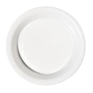 PIATTI FONDI DUNI IN PLASTICA BIANCA Ø 18 CM - CONF.50