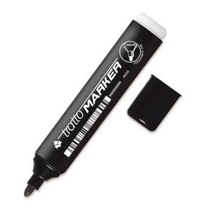 Marcatore indelebile Tratto Marker punta tonda nero