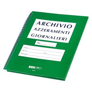 CARTELLA ARCHIVIO AZZERAMENTI GIORNALIERI DI CASSA EDIPRO 30 X 23 CM