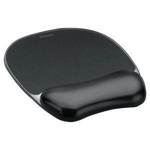 Fellowes 9112101 mousepad gel wrist support, black