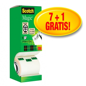 NASTRO ADESIVO INVISIBILE SCOTCH® MAGIC™ 19MMx33M: OFFERTA 7+1GRATIS