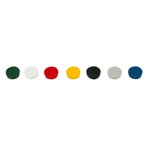 MAGNETI ROTONDI BI-OFFICE EXTRASTRONG 20 MM COLORI ASSORTITI - CONF. 10