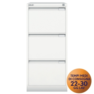 CLASSIFICATORI PER CARTELLE SOSPESE PREMIUM BISLEY 3 CASSETTI BIANCO