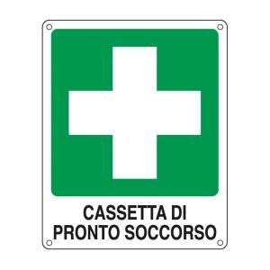 CARTELLO SEGNALETICO DI EMERGENZA   CASSETTA DI PRONTO SOCCORSO