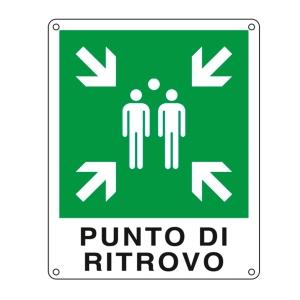 CARTELLO SEGNALETICO DI EMERGENZA   PUNTO DI RITROVO