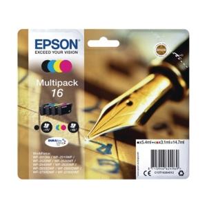 MULTIPACK 4 COLORI CARTUCCE INKJET EPSON T1626 - 175NERO/165COL