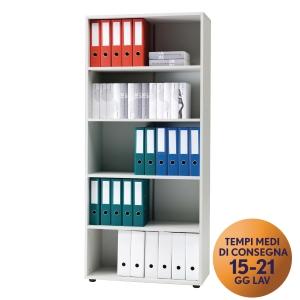Armadio alto libreria TDM linea Office L 80 x P 37 x H 180 cm grigio