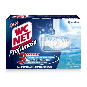CONF. 4 TAVOLETTE SOLIDE WC NET PROFUMOSO OCEAN FRESH