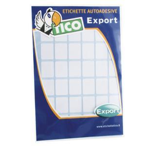 ETICHETTE ADESIVE MULTIUSO TICO EXPORT E-1610 16x10 MM BIANCO CONF. 800