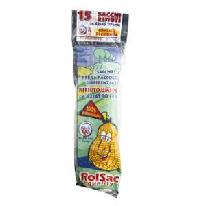 Sacchi raccolta umido Rolsac 10 L - rotolo 15