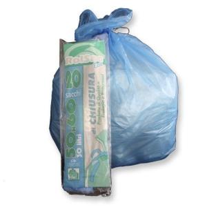 Sacchi spazzatura Rolsac 30 L azzurro - rotolo 20