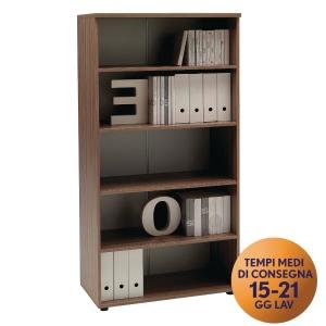 Armadio alto libreria TDM linea Open L 90 x P 48 x H 180 cm noce