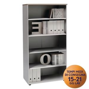 Armadio alto libreria TDM linea Open L 90 x P 48 x H 180 cm rovere / bianco